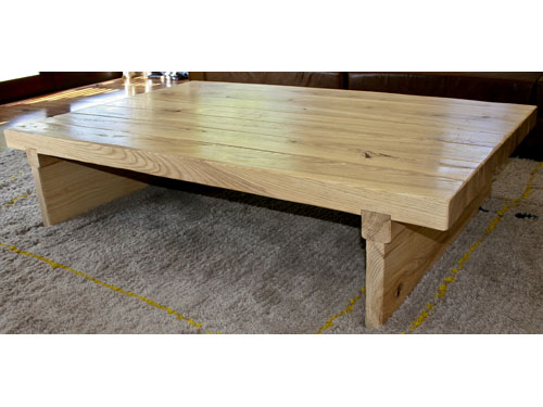 Solid Ash rustic coffee table Custom made Bespoke