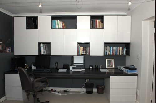 Custom hand made bespoke office/ study desk with storage